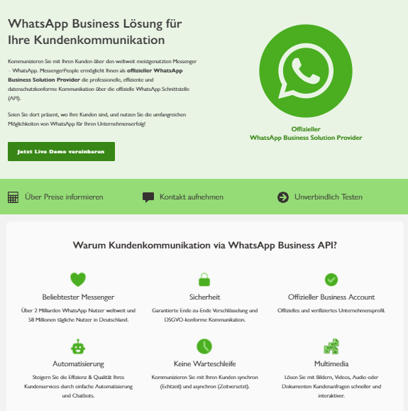 WhatsApp Business Lösung für Ihre Kundenkommunikation