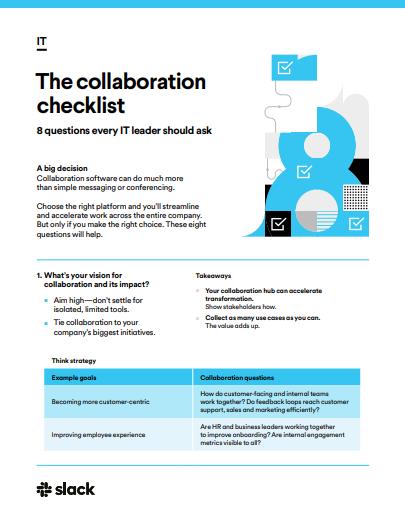 Checkliste für die Zusammenarbeit: 8 Fragen, die jeder IT-Leiter stellen sollte