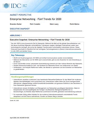 Enterprise Networking – Fünf Trends für 2020