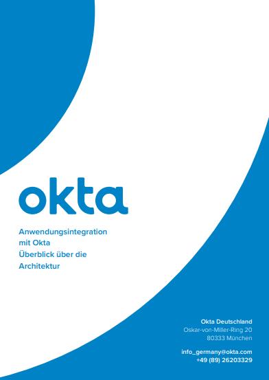 Anwendungsintegration mit Okta Überblick über die Architektur
