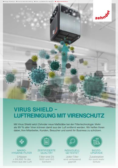 Virus Shield – Luftreinigung mit Virenschutz