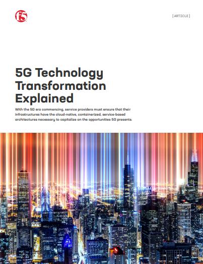 F5 erklärt die 5G-Technologie Transformation