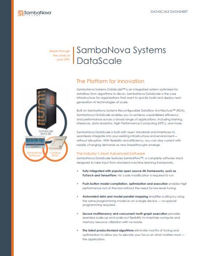 SambaNova Systems DataScale