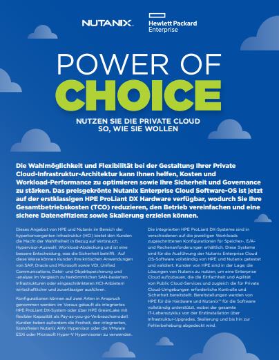 Power of Choice – Nutzen Sie die Private Cloud so, wie sie wollen