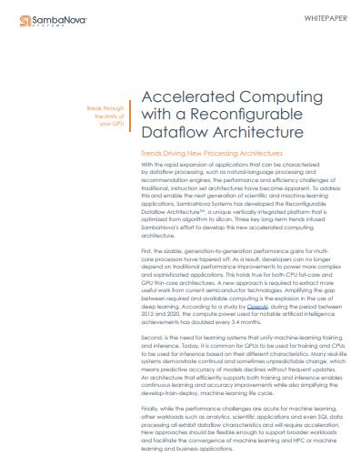 Beschleunigtes Computing mit einer rekonfigurierbaren Datenfluss-Architektur