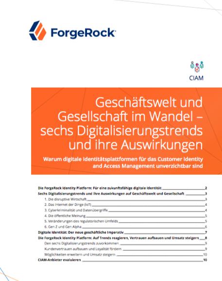 Geschäftswelt und Gesellschaft im Wandel – sechs Digitalisierungstrends und ihre Auswirkungen