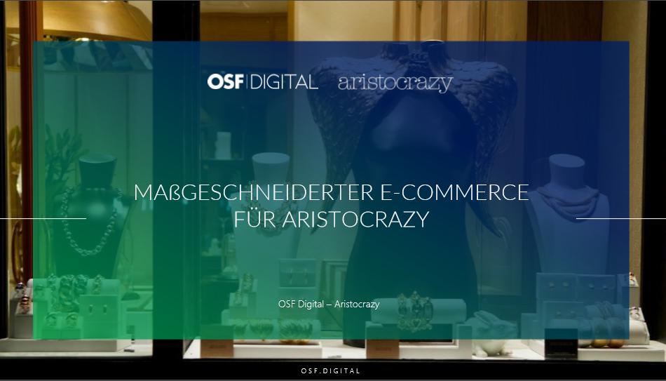 Maßgeschneiderter E-Commerce für Aristocrazy