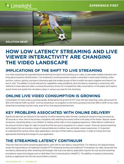 Wie Streaming mit gering Latenz und live – Viewer- Interaktivität die Videolandschaft verändert