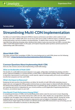 Optimierung der Multi-CDN-Implementierung