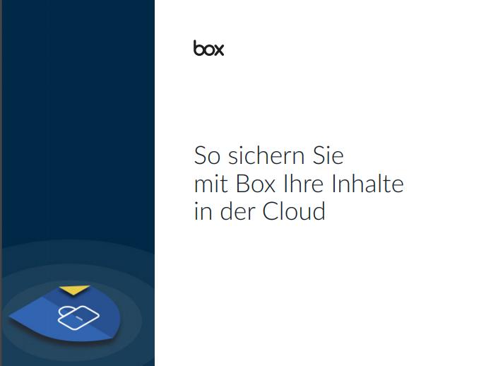 So sichern Sie mit Box Ihre Inhalte in der Cloud